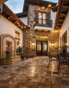 Custom doors lead to  tuscan inspired getaway courtyard entrycourtyard ideascourtyard house also future home rh pinterest