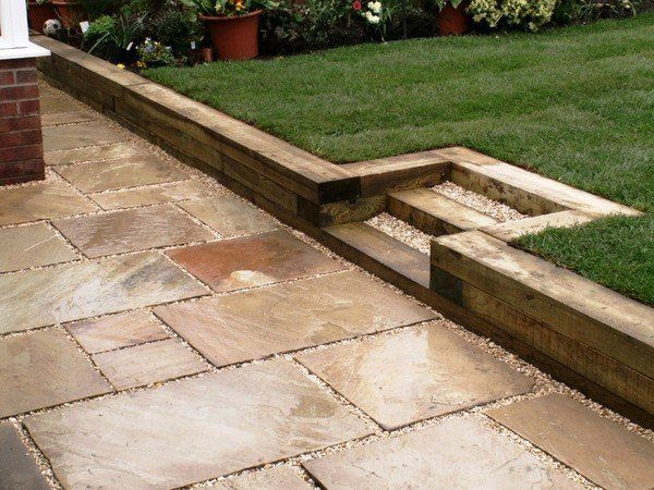 Garden Sleepers Ideas Garden Retaining Wall Ideas Wooden Railway