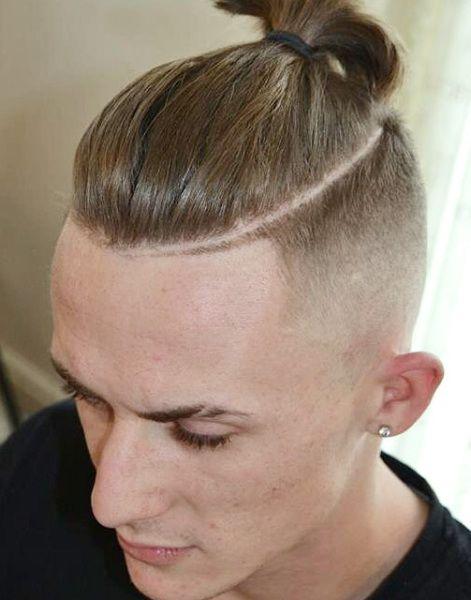 Undercut W Razor Line Male Short Haircuts Short Sides Men's