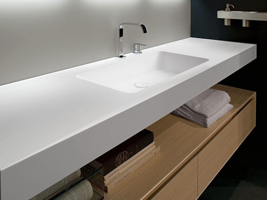 Corian washbasin countertop ARCO by Antonio Lupi Design