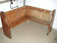 rustic simple wooden corner bench seating for corner bench ...