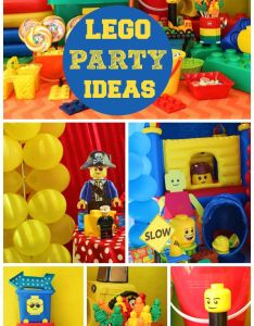 lego boy birthday party in bright colors with fun decorations and treats see also the best images about ideas on pinterest ninja rh uk