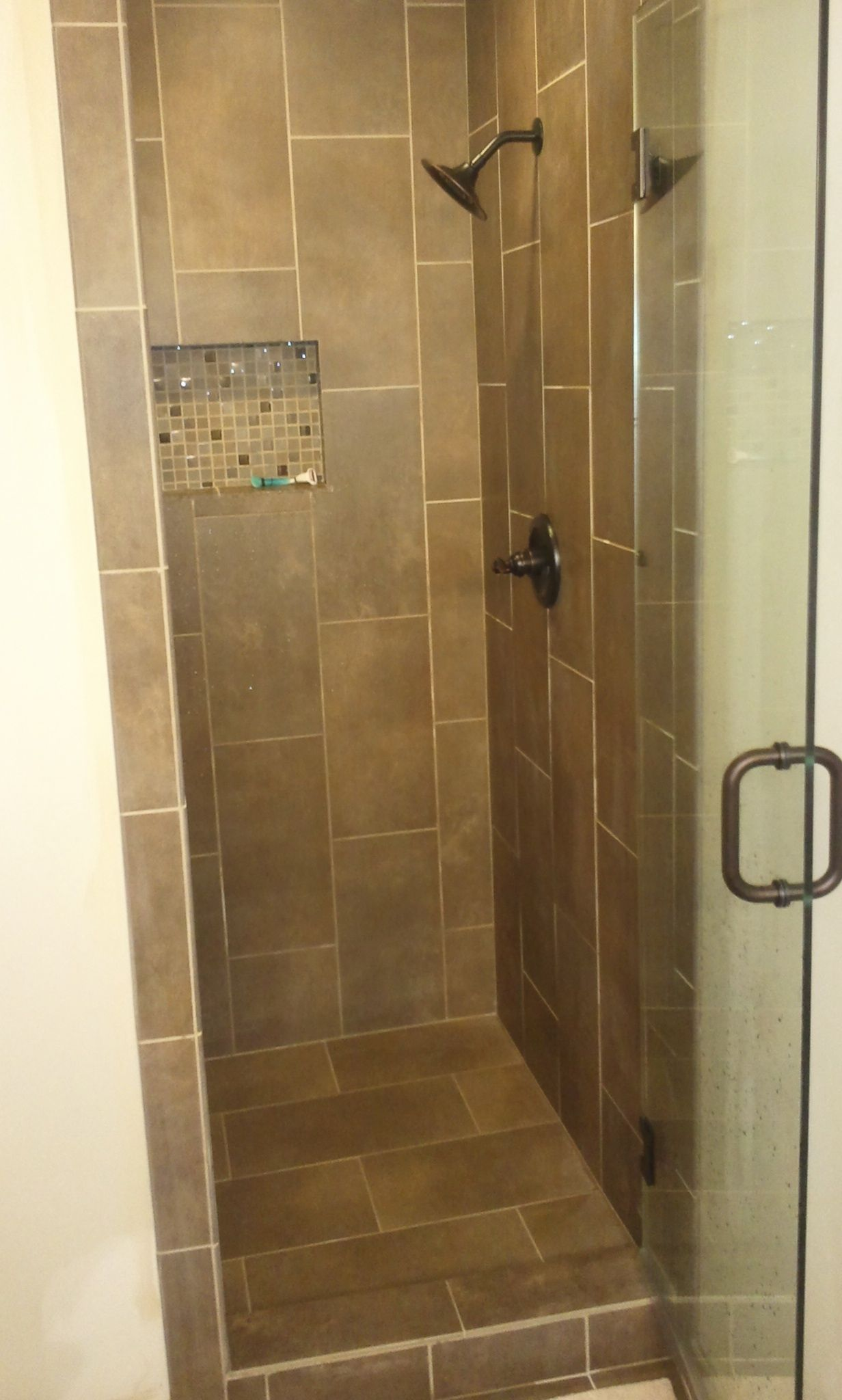 Tiled Stand Up Shower Bathrooms Pinterest The Old Stand Up