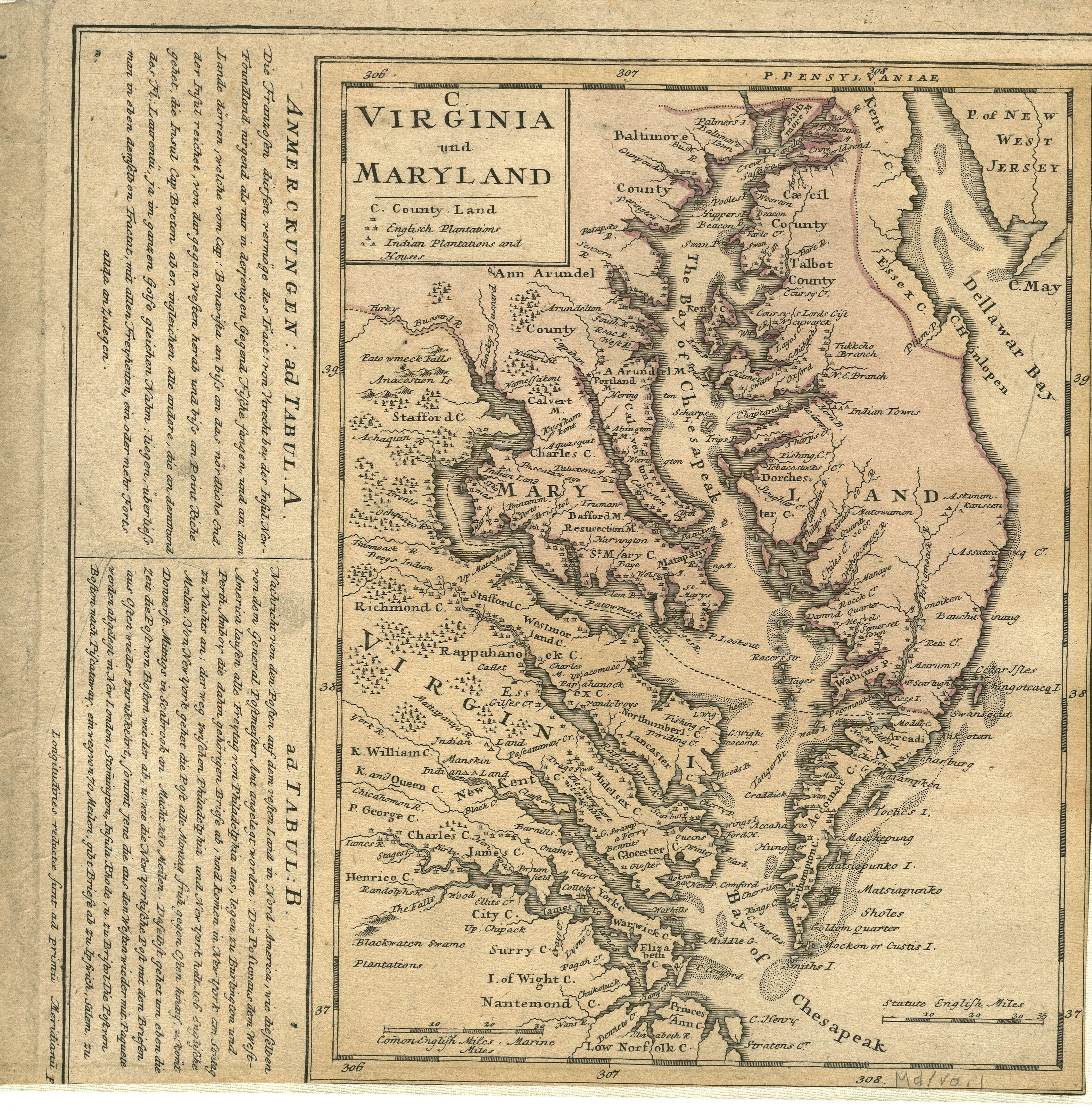 Virginia And Maryland Created By Homann