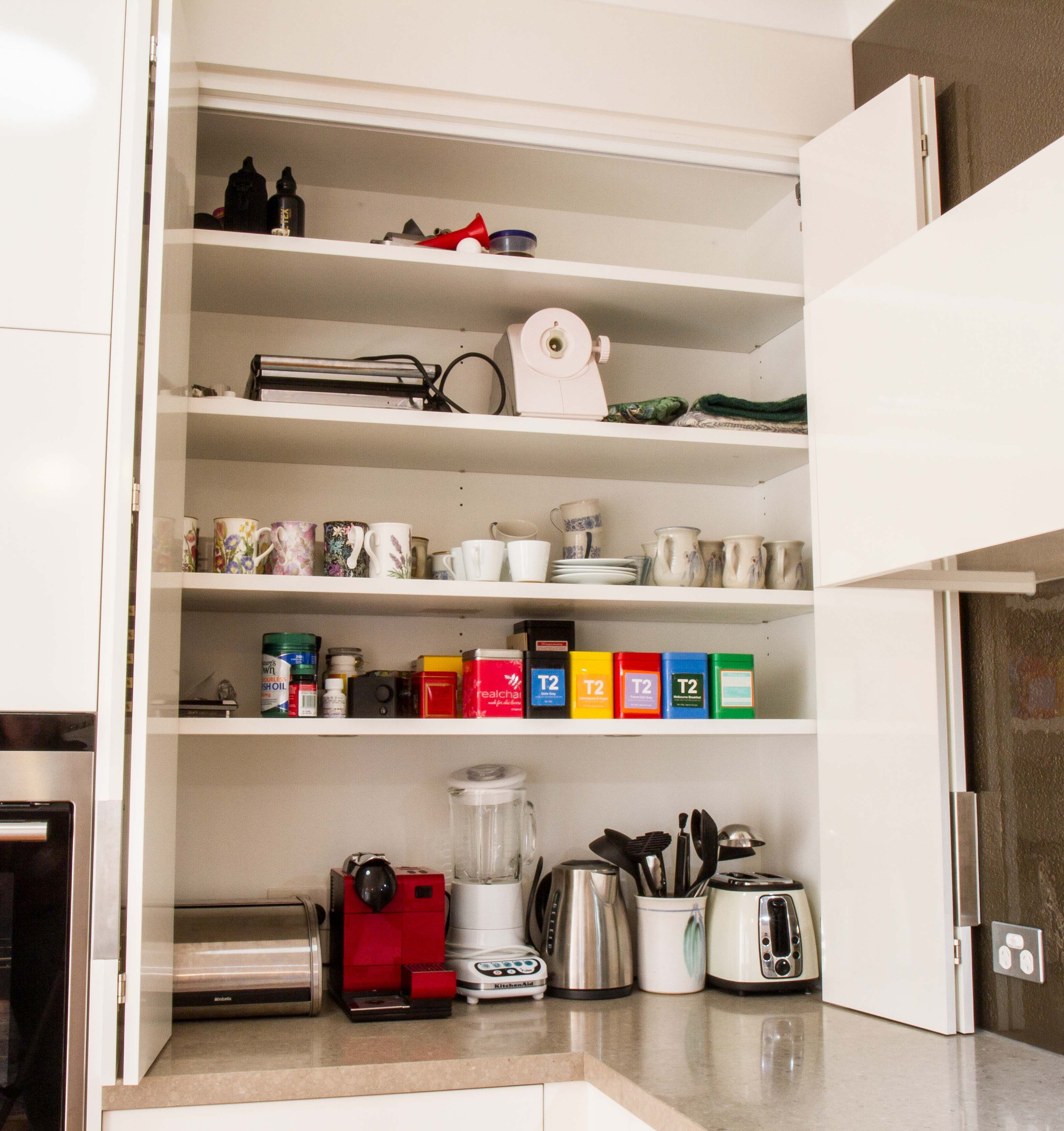 bi fold kitchen cabinet doors affordable tables appliance pantry www