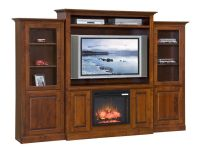 Amish Mayfair Fireplace Entertainment Center | Amish ...