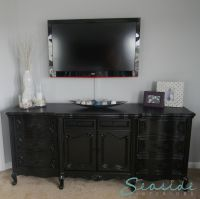 tv mounted above dresser | We bought a house! | Pinterest ...