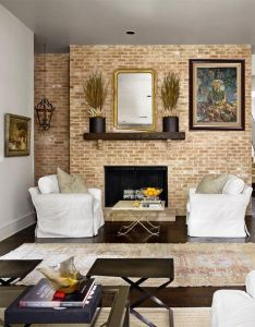 eposed brick wall ideas for living rooms decor love also visit our website exquisite art to see the pieces that rh pinterest