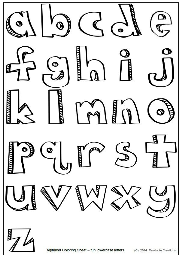 This free alphabet coloring sheet with the stylized