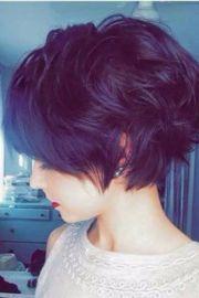angled long pixie cut wavy