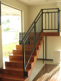 New style assembled stair railings with hot dip galvanized ...