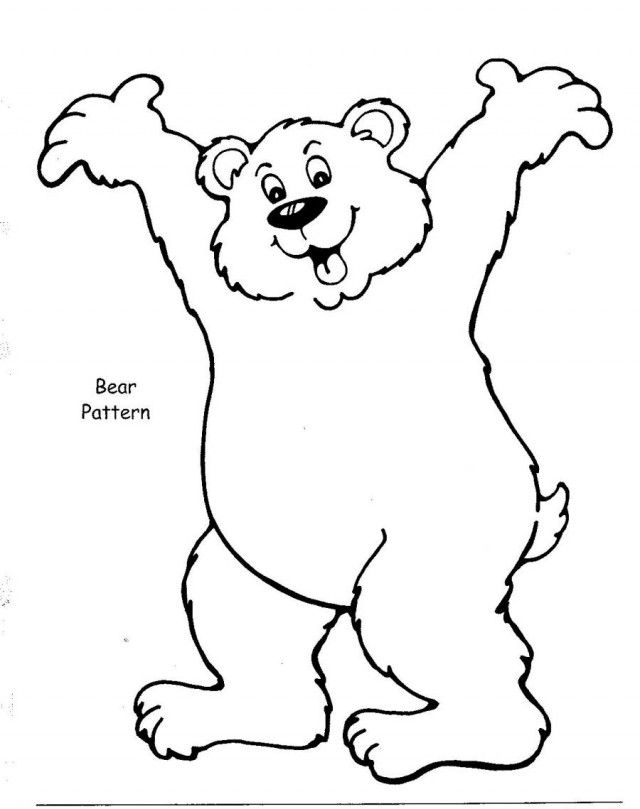 Brown Bear Coloring Book Pages Printable Coloring Sheet