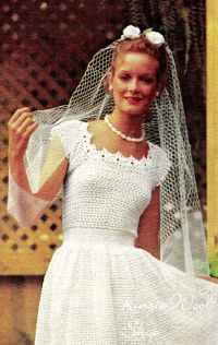 Vintage CROCHET Wedding Dress & Jacket PDF Pattern
