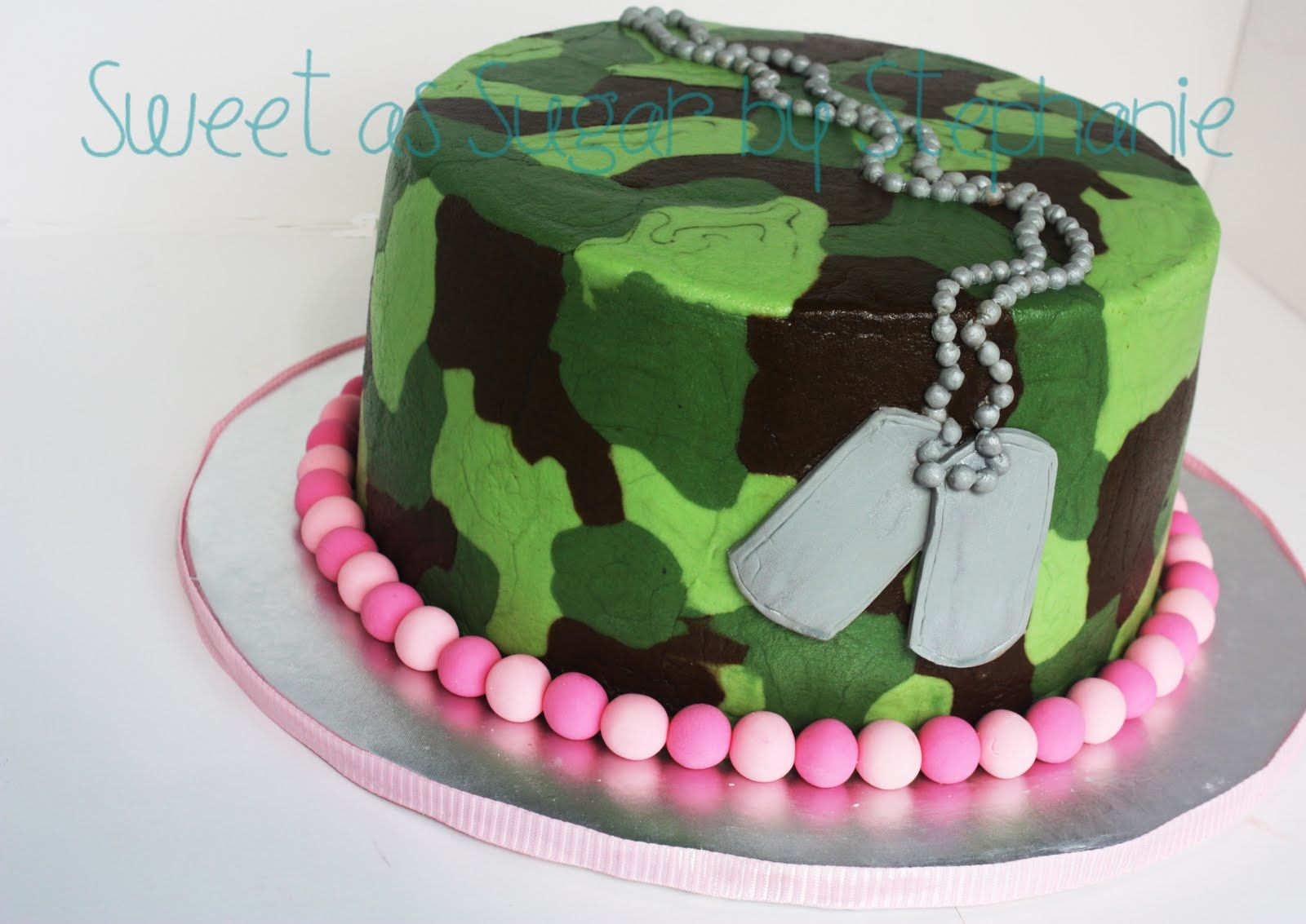 Camo Cake Ideas Pink Theme
