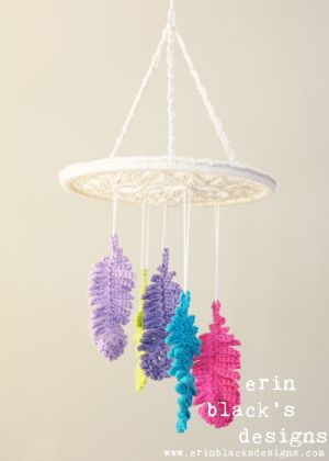 DIY Crochet PATTERN  Dreaming of Feathers Dreamcatcher