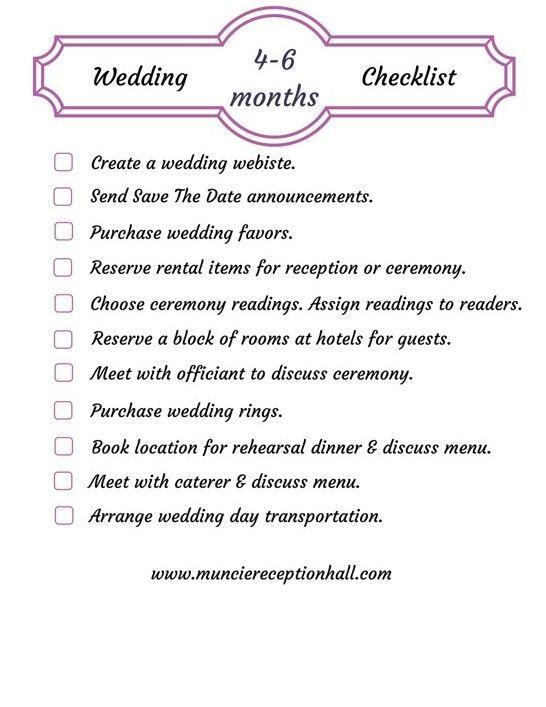 Wedding Planning Checklist 46 Months  Wedding Planning  Pinterest  Wedding planning