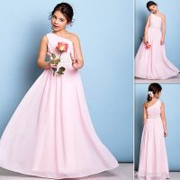 2017 Blush Pink Junior Bridesmaid Dresses A-line Spaghetti ...