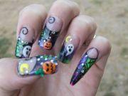3d nail art . halloween custom