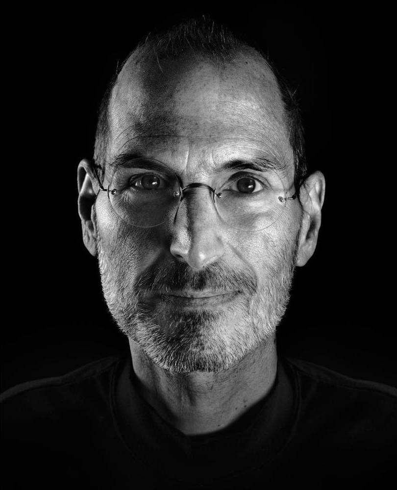 Portrait Steve Jobs cofounder and former CEO of Apple
