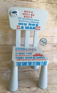 Time Out Chair Boy's Time Out Chair by LCDAZZLE on Etsy