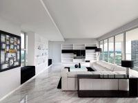 Ultra Modern Sky Condo Interior Design Black White Schemes ...