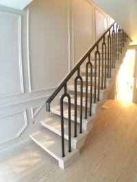 open treads stone staircase.Portland limestone. Cantilever ...