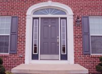 door color for red brick house | My Web Value