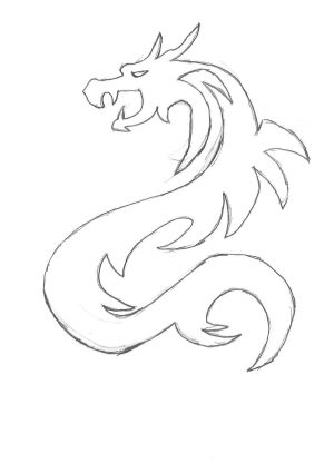dragon simple drawing sketch easy chinese sketches dragons draw drawings anime step doodles animal paintings kite getdrawings tattoos chibi burning