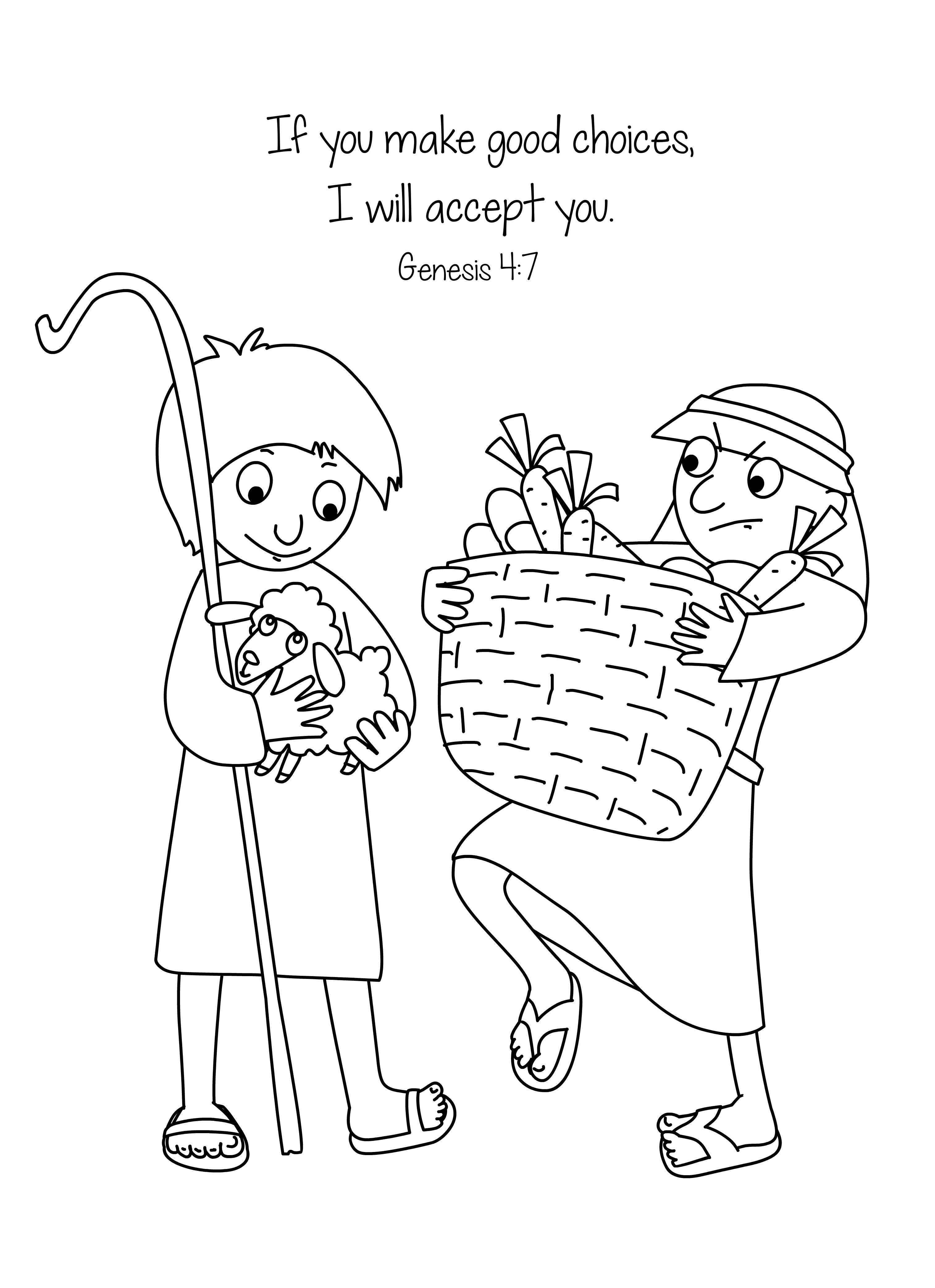 Cain And Abel Worksheets For Kids