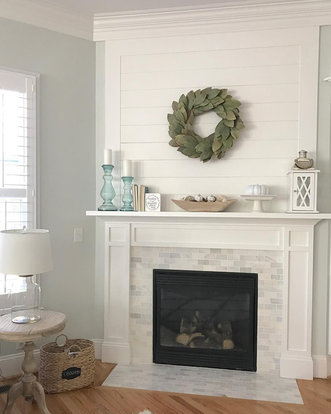 Shiplap And Marble Fireplace Homey Pinterest Marbles