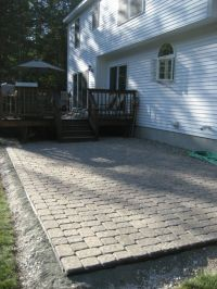 DIY Stone Patio, We installed a 13x26 stone patio in our ...