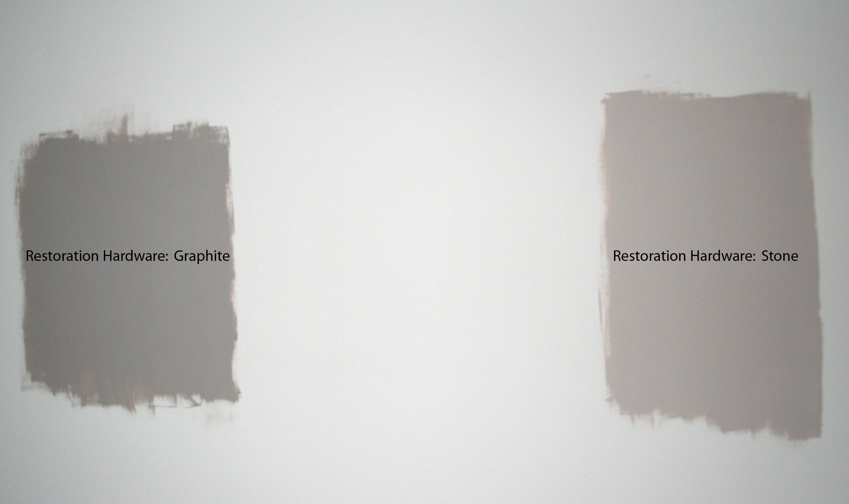 Restoration Hardware Slate Paint Match Stone Vs Graphite Sister Share Pinterest The Two