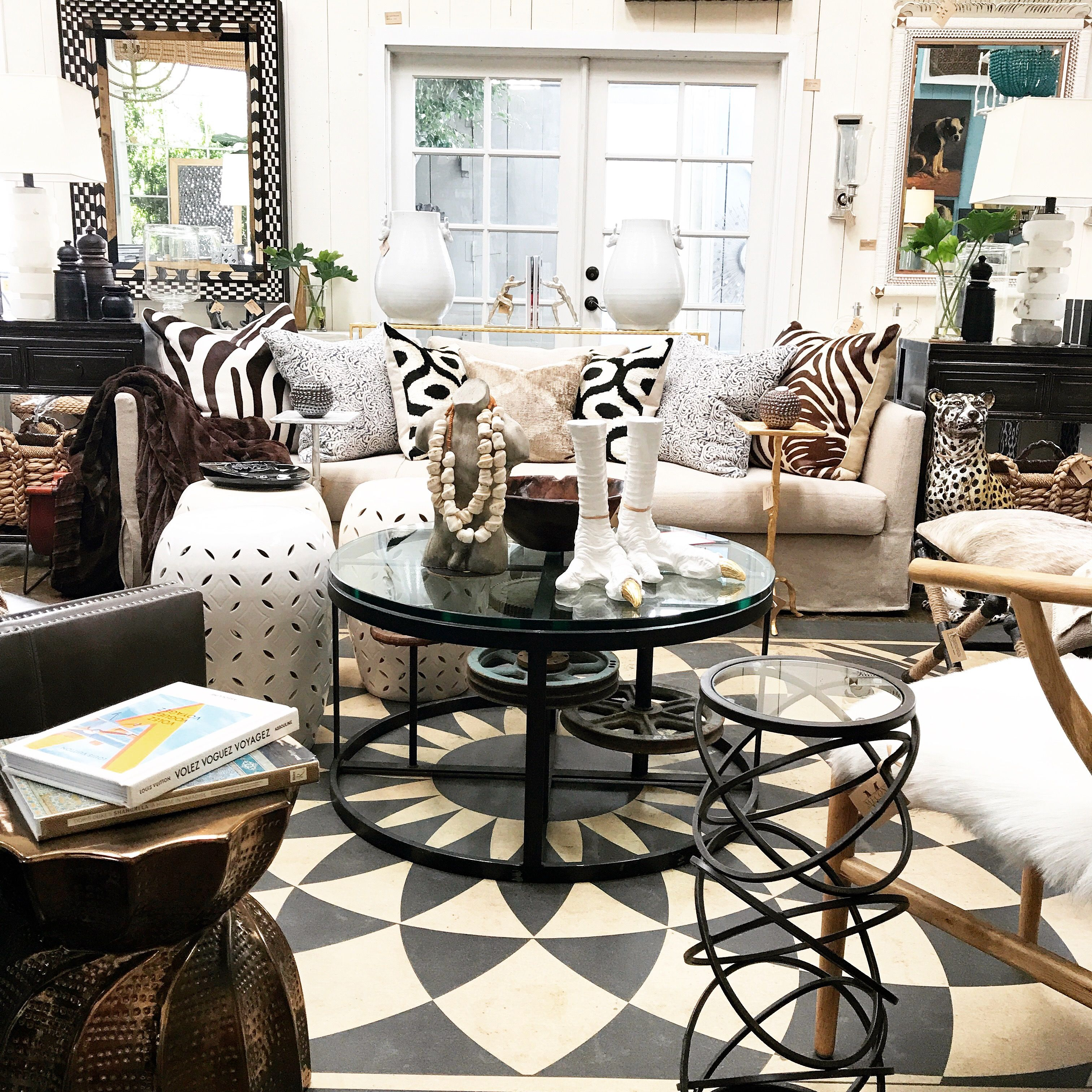 Geometric and animal print accents at mecox la interiordesign home decor design also rh pinterest