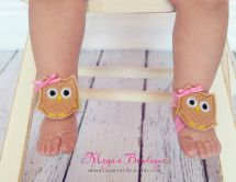 Owl Barefoot Baby Sandals