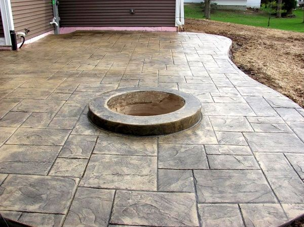 Ashlar Slate job by the Concrete Company