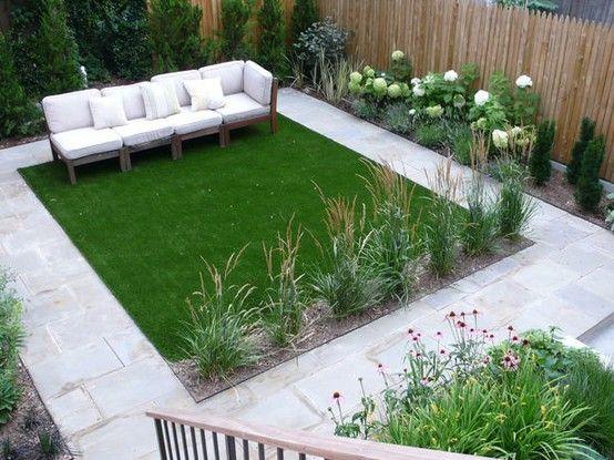 Landscape And Architecture Design For Small Garden With Chair And
