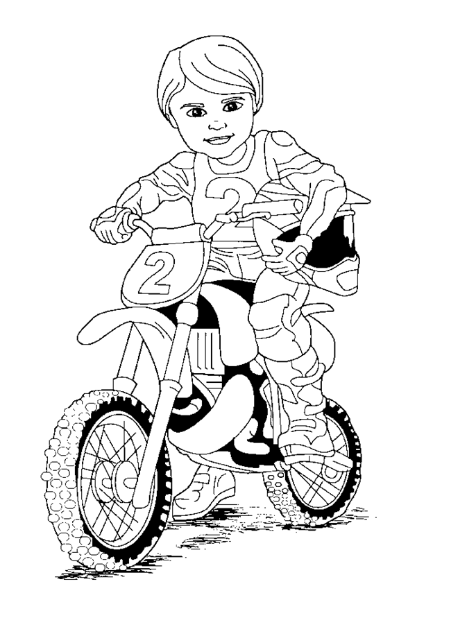 Motorbike Pictures To Colour In Motorbike Pictures To