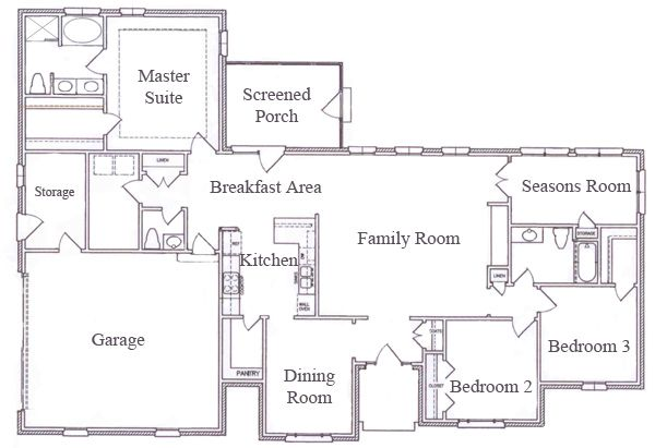 Cr2880 Main Floor Plan Unique Ranch House Plans Awesome House
