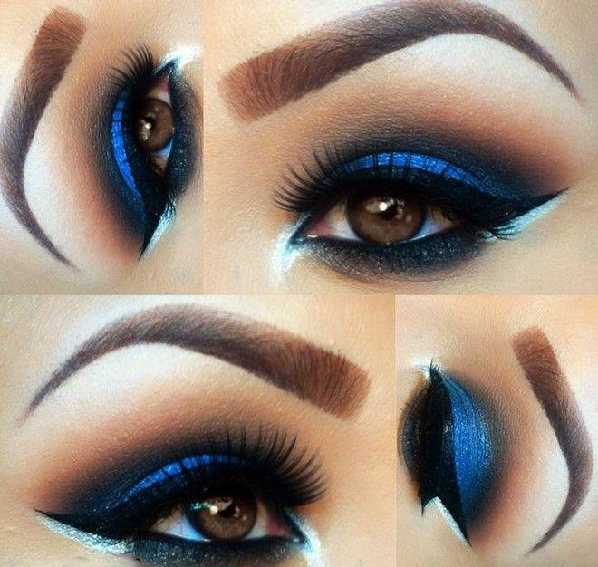 Electric Blue Smokey Eye Makeup Girls Beauty Look And
