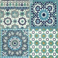 Grandeco Sapphira Blue Mosaic Tile Wallpaper | Blue mosaic ...