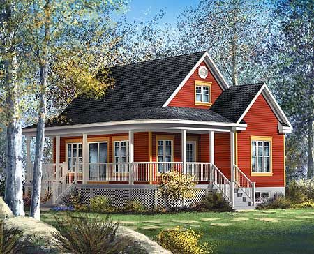 Plan 80559PM Cute Country Cottage Wraparound Front Porches And