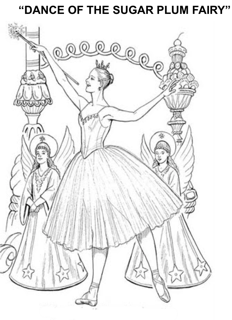 1st grade Nutcracker lesson. Includes two coloring pages