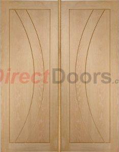 Image of salerno oak flush panel door pair also doors rh pinterest