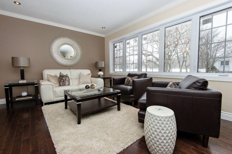 wandfarbe wohnzimmer weise mobel - boisholz - Beige Wandfarbe Wohnzimmer