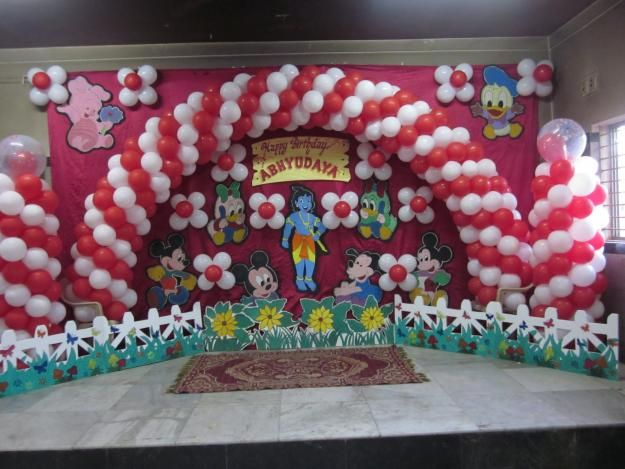 Balloon Decoration For Birthday Party At Home Home And House