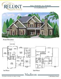Reliant Homes | The Madison Plan | Floor Plans | Homes ...