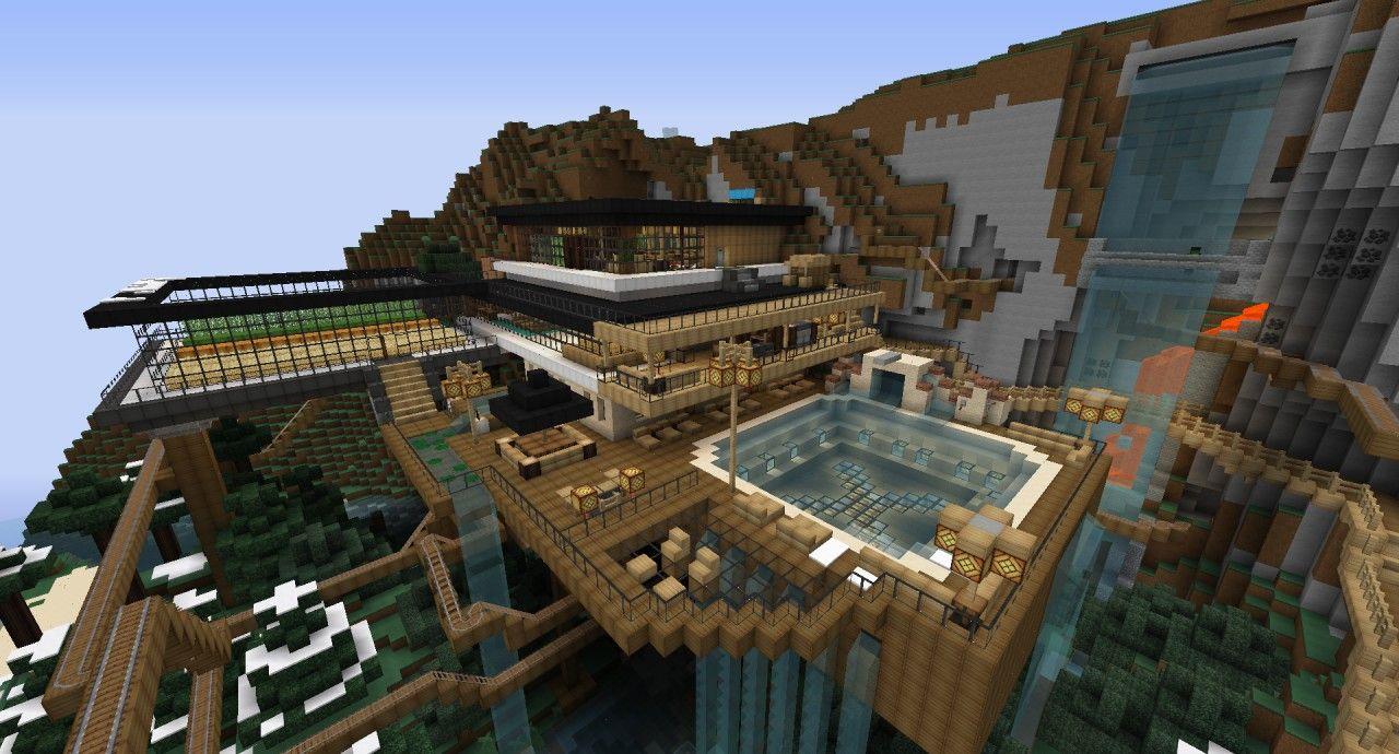 Minecraft Mountain House Ideas Google Search Minecraft Stuff