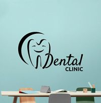 Dental Clinic Wall Decal Stomatology Dentist Tooth Dental ...