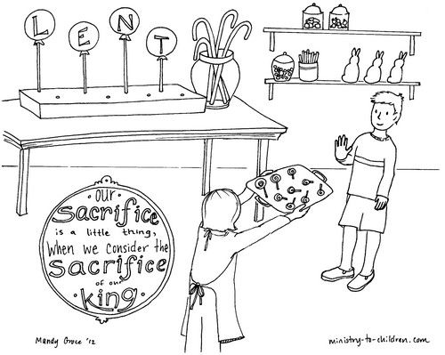 If your family celebrates Lent, this coloring page might