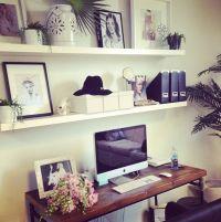 shelves above desk   ideas for the house   Pinterest ...